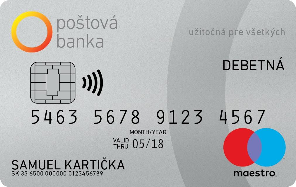 Poštová banka - Maestro