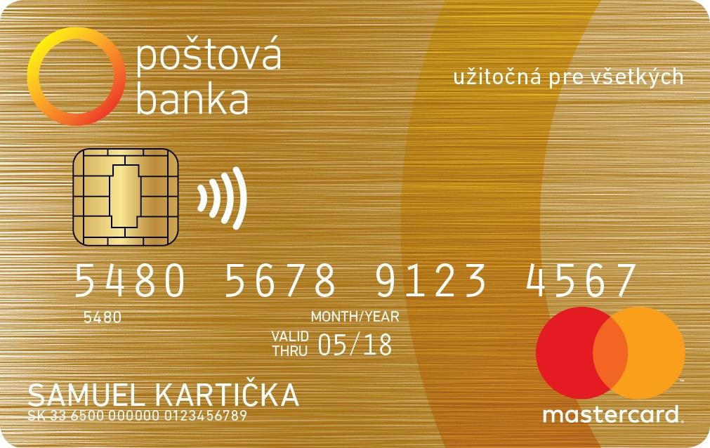 Poštová banka - MasterCard Gold