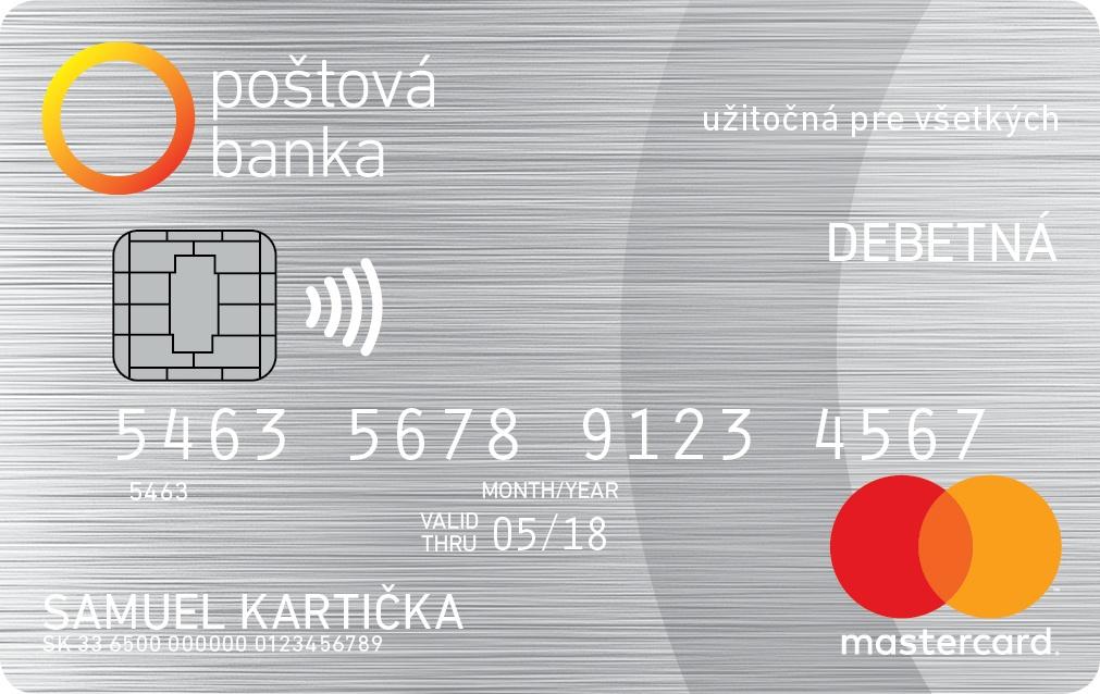 Poštová banka - MasterCard Standard