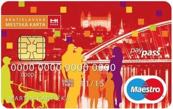 vub banka bratislavská mestská karta