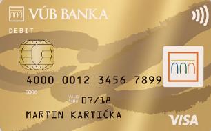 vub banka visa inspire gold